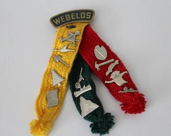 Vintage Webelos Color Ribbon and Badges