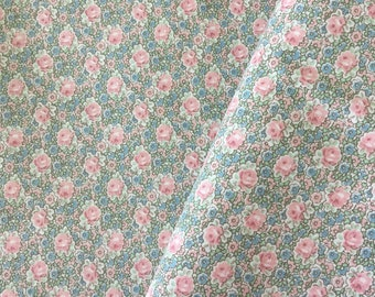 Quilt Cotton Fabric -  Floral Cotton Fabric - Two Yards Cotton Fabric -  Cotton Quilt Fabric - Tiny Flowers Cotton Fabric