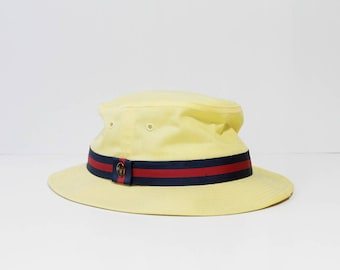 1980s Churchill Fedora Boater Hat