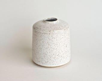 Small White Vase - Handmade Ceramic Vase - Bud Vase - Rustic Vase - White Vases - Contemporary Ceramics - Rustic