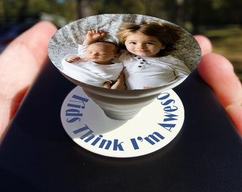 Custom Photo with ANY image | Pop phone Socket Grip Socket Decal |Available | Popsocket grip  Sticker
