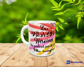 original to offer custom mug / heroes don't wear cape they teach mistress