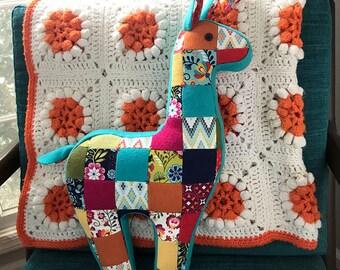 Patchwork Llama Pillow  PDF Sewing Pattern