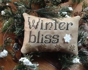 Winter Bliss pillow tuck