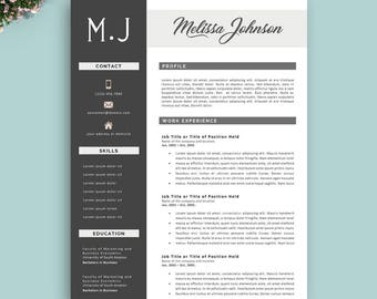 Resume Template, Instant Download, Professional Resume Template, Ready to Edit, Creative Resume Template, Modern & Professional CV Template