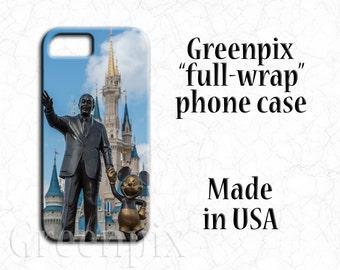 Disney Partners statue iPhone case, Disney iPhone case, iPhone X. iPhone 8, iPhone 7, iPhone 6, Plus, Walt Disney, Mickey Mouse, castle