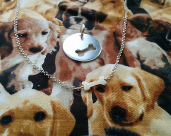 Dog-Human Best Friends Necklace in Sterling Silver