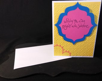 Friendship Card| Wishing You A Day Bright With Sunshine