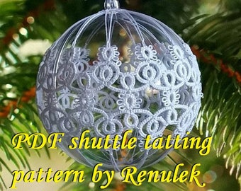 Bubble 3D–7'PDF Original Shuttle Tatting Pattern. Instant Digital Download. Tatting yourself. xmas gift. schemat frywolitki