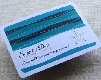 Starfish Beach Save the Date Postcard - Destination Wedding - Tropical - SAMPLE