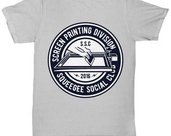 Screen Printing Division Squeegee Social Club T-shirt