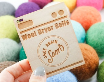 Wool Dryer Balls - Set of 3 Felt Balls (Choose Your Color Combo) - Gifts for Her / Housewarming Gifts