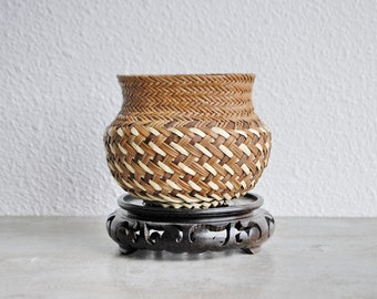 Vintage Tarahumara Running Tribe Handmade Basket Double Woven