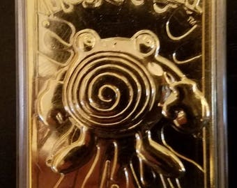 Pokemon Polywhirl Gold Plated Trading Card