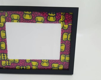 Valentine's day gift,Picture frame,Fabric frame,African picture frame, frame,Ankara picture frame, gift set,newborn picture frame,baby gift
