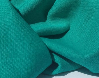 "60"" Turquoise Teal Green Rayon Linen Blend Light & Medium Weight Woven Fabric By the Yard"