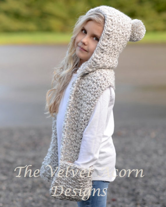 Crochet Pattern The Summit Hooded Scarf 1218 Monthtoddler Child