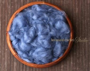 2,5 oz (70gr) Large Basket Stuffer Premium extra fine australian merino wool (18 micron). Newborn photo prop. Ready to ship