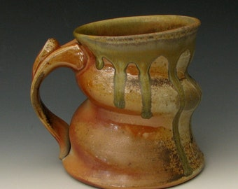 Wood Fired Mug #29 - Wood Fired Pottery - Stoneware Mug - Pottery Mug - Ceramic Mug - Coffee Mug - Wood-Fired Mug - Woodfired Mug