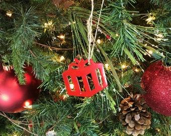 Red Christmas Present Christmas Ornament. Christmas Decor. Christmas Tree  Decoration. Stocking Stuffer Cowboy