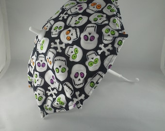 Small mini Skull and Bones umbrella