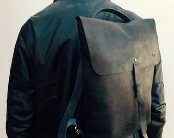 Full grain Leather Backpack - 100% handmade with the highest quality full-grain spanish leather available