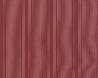 Moda Collections Mill 1889 Indigo Red Stripes Civil War Reproduction Fabric BTY 46225-14