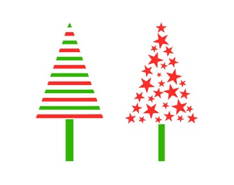 Christmas Trees, SVG Cutting File, Commercial Use, INSTANT DOWNLOAD