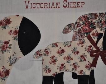 "Adorable Sheep - Fabric Panel -  each panel has 2 Sheep - small 9"" tall - large 11 1/2"" tall"
