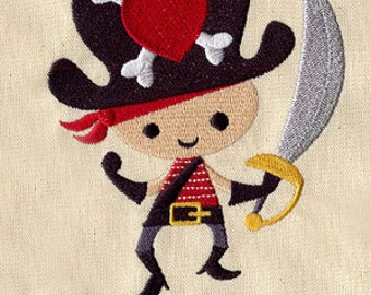 Be Me Matey Pirate Embroidered Flour Sack Hand/Dish Towel