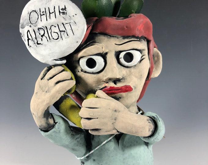 Lichtensteins' Oh Alright Pothead // Masters Series // Sculpture Painting // Succulent Pot // Planter // Artist // Seconds // Handmade