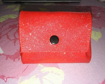 Coin Swarovski leatherette glitter red door