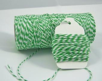 FULL SPOOL - Bakers Twine - The Twinery - 100% Cotton  - Original Twist - 240 Yards - Peapod Green