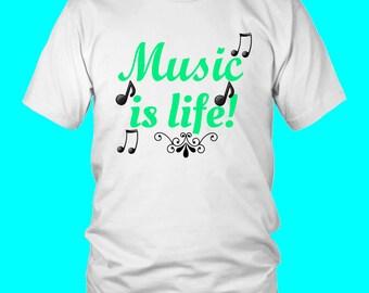 Music Is My Life! I Love Music Shirt
