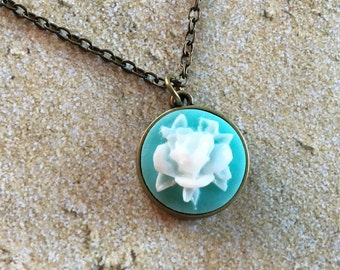 Necklace for Girls, Necklace for Kids, Flower Necklace, Flower Pendant, Gift for Girls, Girls Jewelry