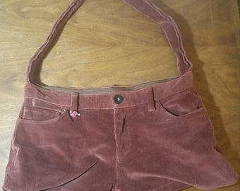 Upcycled Corduroy Pants Bag