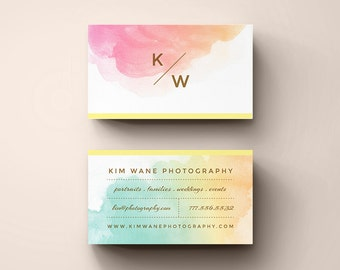 """DIY Business Cards - Instant Download - Printable contact card template - The """"Kim"""""""