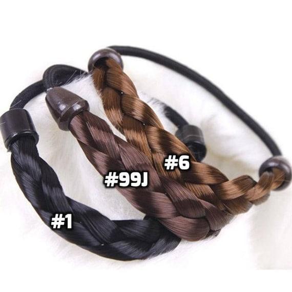 Braided Tonytails Fake Synthetic Hair Ponytail wrap around e72b8aafc21