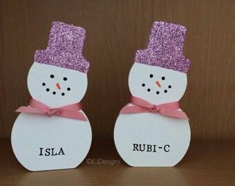 Wonky Snowman, Christmas Ornament, snowman