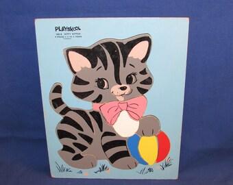 PLAYSKOOL KITTY KITTEN Puzzle 1970s #165-6
