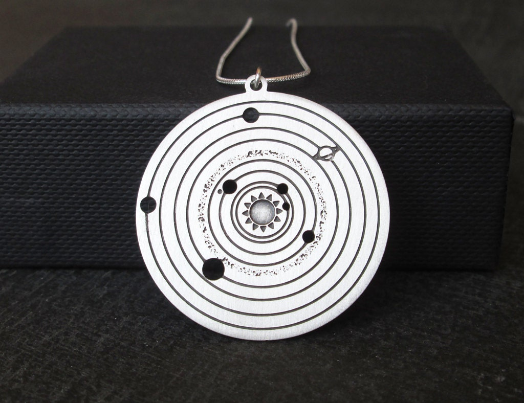 Solar system necklace planets astronomy pendant galaxy zoom mozeypictures Gallery