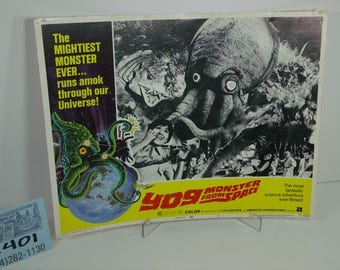 """1970's American International Pictures-""""Yog-Monster from Space""""-Lobby card"""