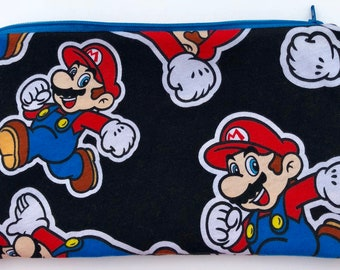 Large Super Mario Zipper Pouch - Videogames, Geekery.