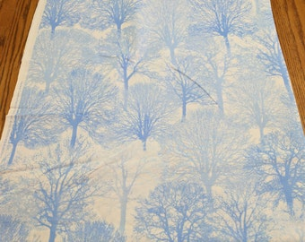 Ice-Light Blue Trees Cotton Fabric from Timeless Treasure