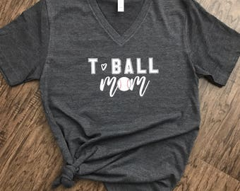 TBALL MOM, T-Ball shirt, BASEBALL mom