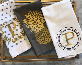 Monogrammed Tea Towel