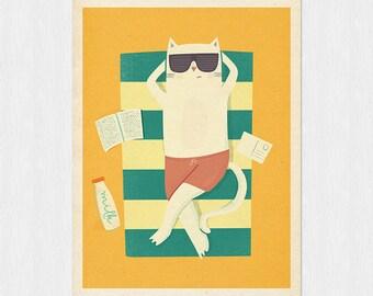 Summer time part III - original illustration