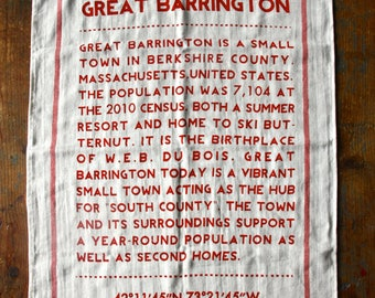 Great Barrington Tea Towel