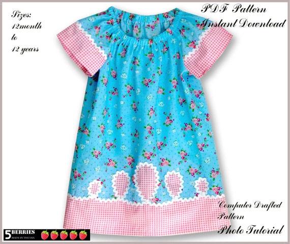 Prairie Girl Peasant Dress Pattern Free Mother Daughter