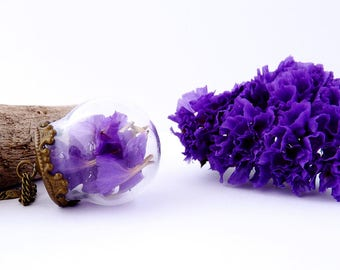 1 packet of real dried sea Lavender purple flowers dark fill globes, vials and glass beads